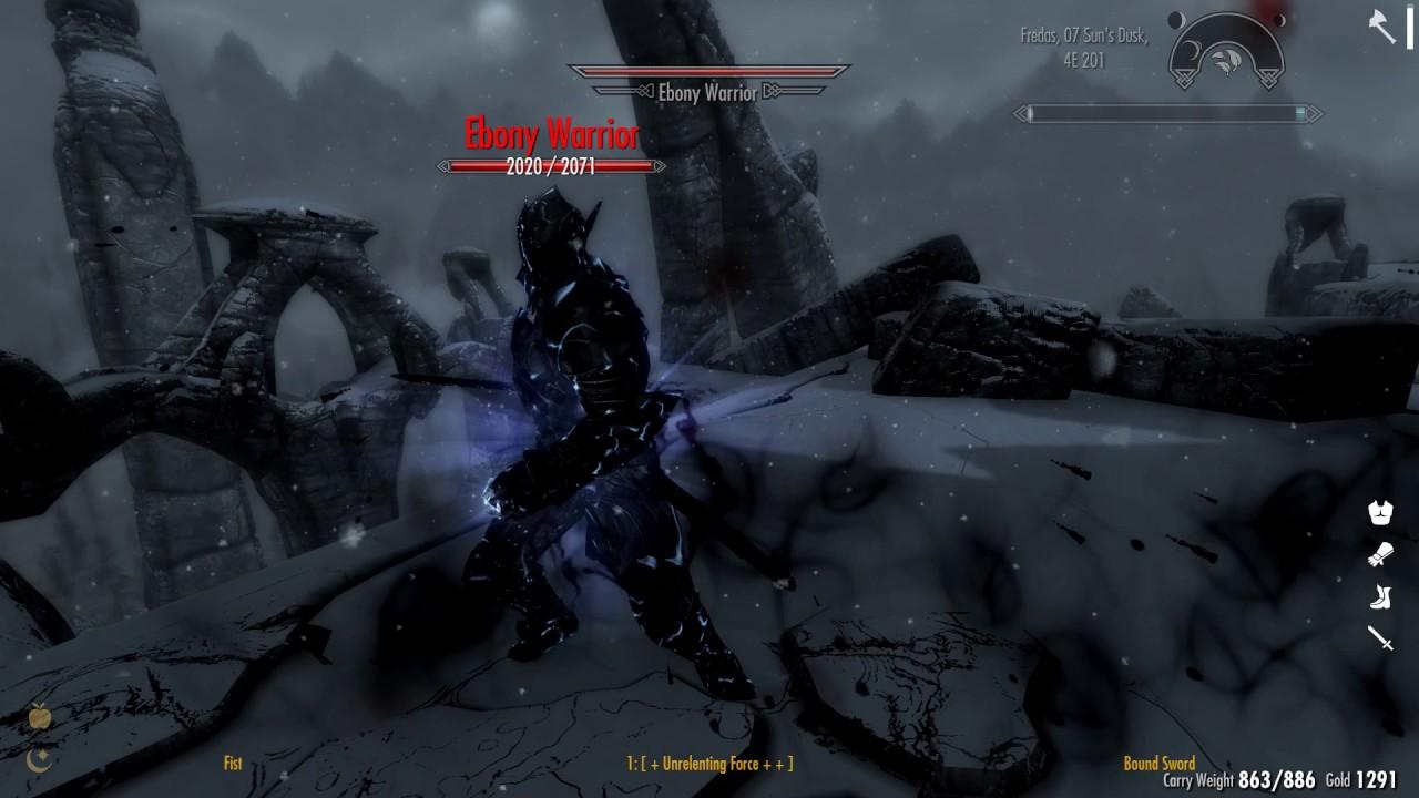Skyrim+Ordinator (v 7 45): Killing the Ebony Warrior with unbalanced perks