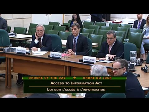 """Ezra Levant testifies about Access to Information and Liberal """"transparency"""""""