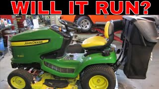Will It Run? abandoned John Deere x360 from a Yard Sale,