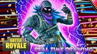 How To Draw Fortnite Battle Royale Raven - Step By Step Tutorial Legendary Skin Dibujos de フォートナイト