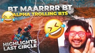 H¥DRA | ALPHA PANICKING H¥DRA | BTS IN FINAL ZONE 😝😂|| PUBG MOBILE FUNNY HIGHLIGHTS!