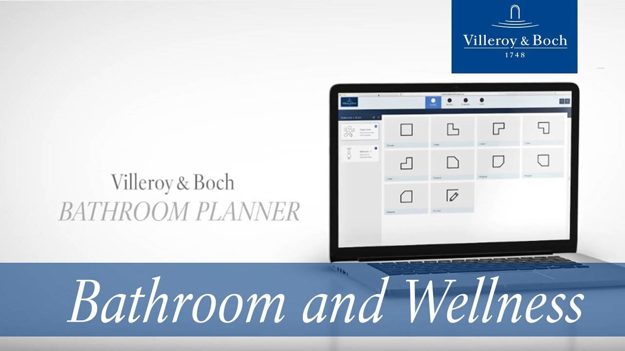 Online bathroom planner design your dream bathroom for Bathroom planner villeroy boch