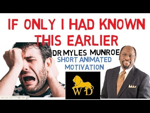 **DO YOU FEEL LIKE YOU DON'T FIT IN? by Dr Myles Munroe (Animated)