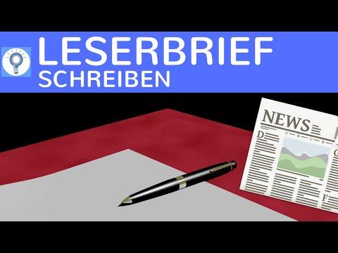 Wie schreibe ich einen Leserbrief? - Herangehensweise & Aufbau / Gliederung & Inhalt