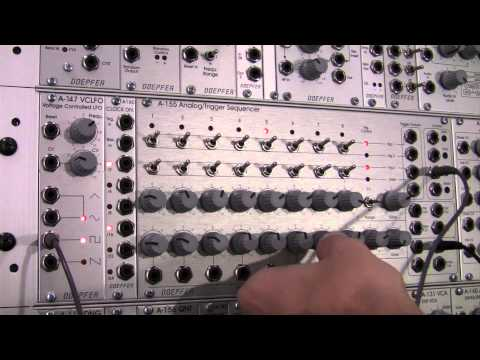 Doepfer A155 Analog/Trigger Sequencer Basics-Notes and Triggers Part One