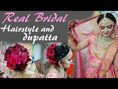 Real bridal dupatta setting 2018 ||in hindi