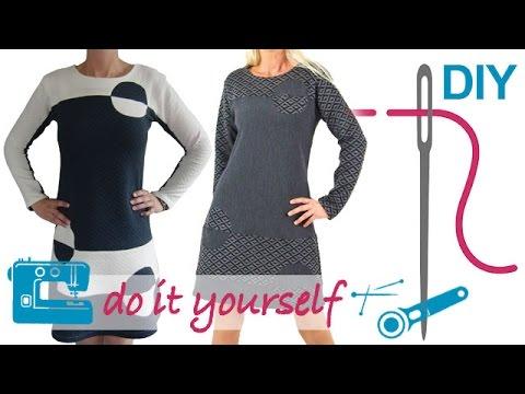DIY Kleid nähen für Anfänger – Kleid ohne RV – Zierstoff ...