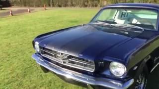 1965 Mustang fastback in Caspian blue