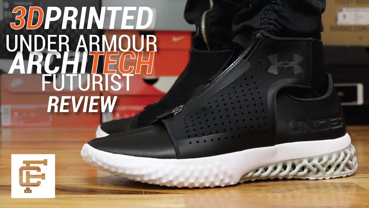 3d Printed Shoes >> UNDER ARMOUR ARCHITECH FUTURIST 3D PRINTED SHOE REVIEW ...