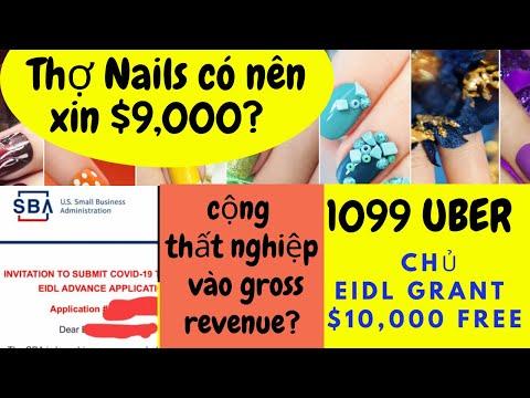 Targeted EIDL Advance/grant $10,000, $9,000 FREE Money I Khai tiền thất nghiệp? Thợ Nails nên apply?