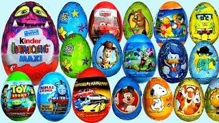 26 Surprise eggs Kinder Maxi Disney Pixar Cars 2 Маша и Медведь Kinder Surprise Toy Story