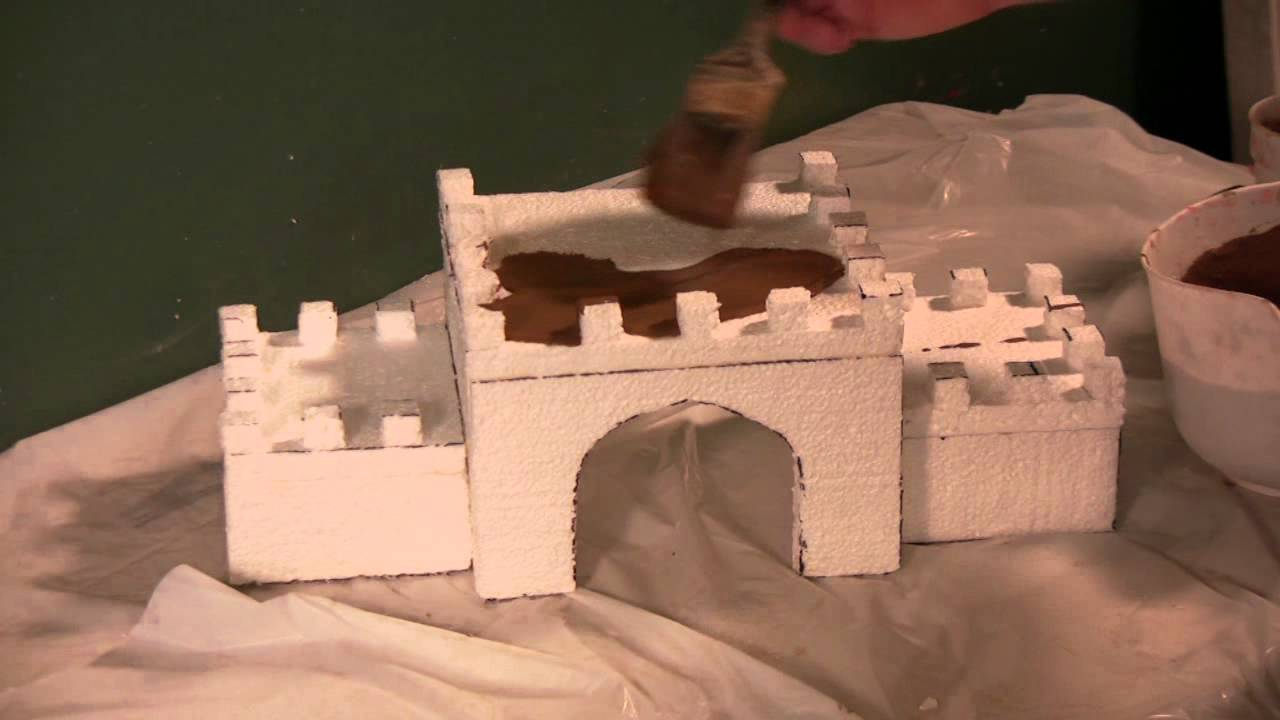 How to make a paper castle decoration - How To Make A Paper Castle Decoration 27