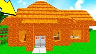 HOW TO MAKE A LAVA HOUSE IN MINECRAFT!