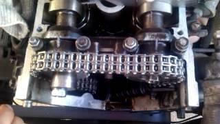 видео Привод распределительных валов двигателя ЗМЗ-40524, цепи валов