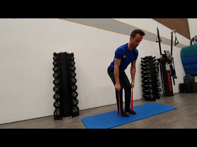 Bent over row met stiek