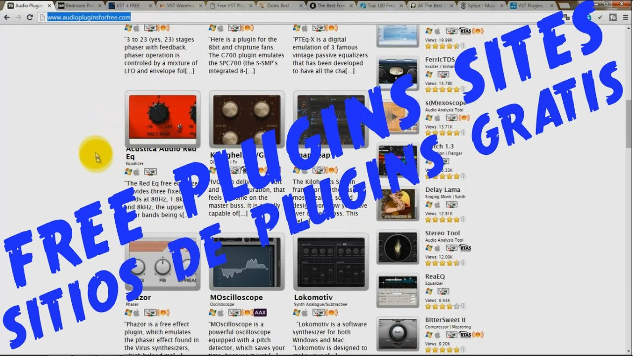 11 Sites For Downloading Free Plugins - 11 Sitios Para Descargar Plugins  Gratuitos