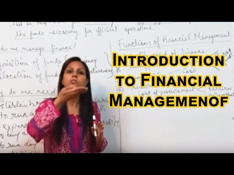Introduction, Functions and Objectives of Financial Management  Class XII Bussiness Studies by Dr  H