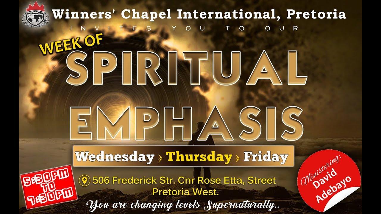 WEEK OF SPIRITUAL EMPHASIS DAY 3 07/06/2019 - Morkc