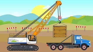 #Truck and Excavator and Crane   Construction Machines Story  Baumaschinen   Maszyny Budowlane