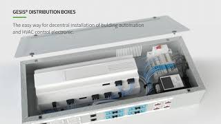 Smart distribution boxes for flexible building installation