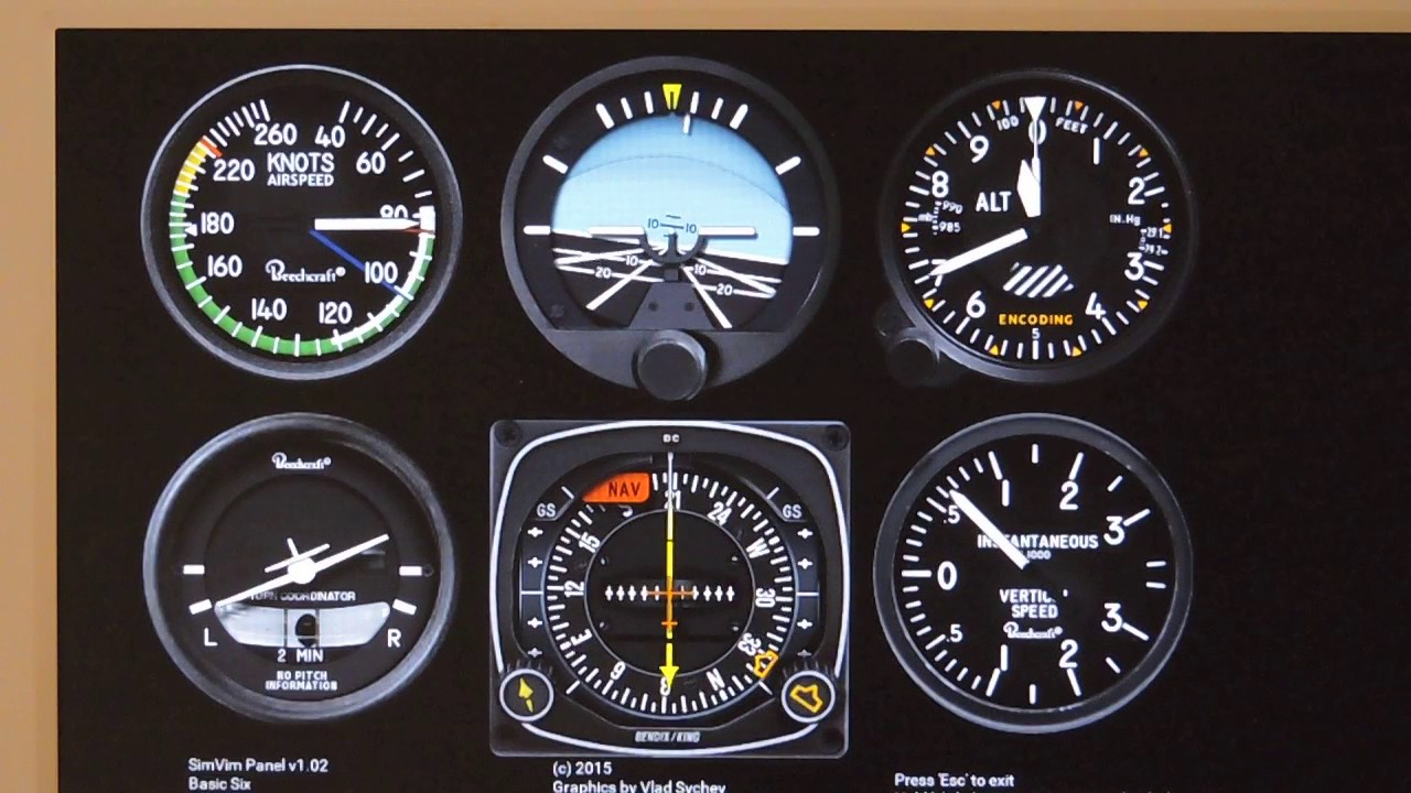 SimVimPanel - On-screen instrument panels for SimVimCockpit