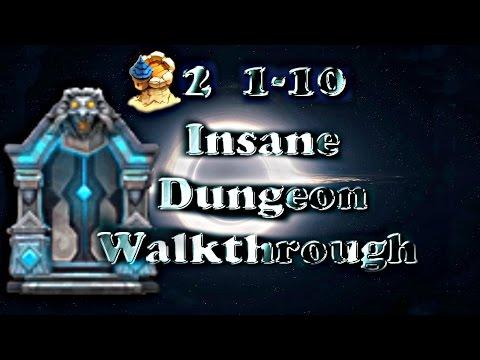 Castle Clash F2P Insane Dungeon 2(1-10) Walkthrough