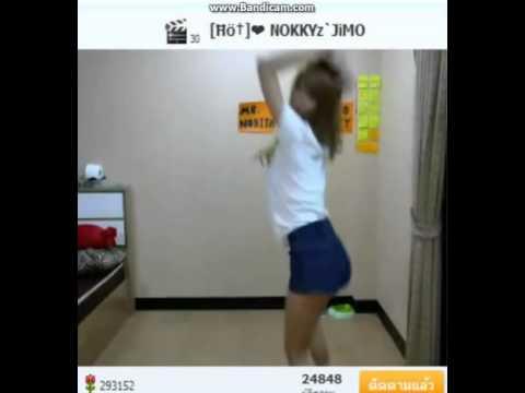 DJ นกกี้ เต้น Waveya Twerking   Ain't a party David Guetta
