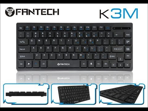 Fantech K3M Super Slim Multimedia Mini Keyboard |Unboxing and Review