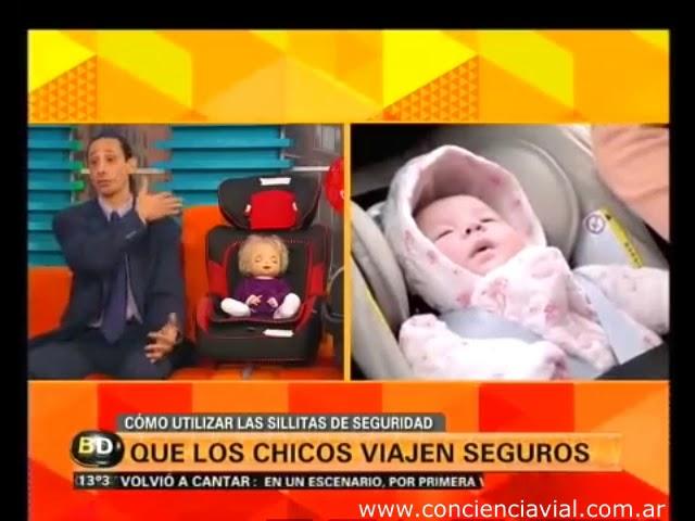 2014 - Telefé Noticias - Axel Dell' Olio sobre el correcto uso de sistemas de retención infantil