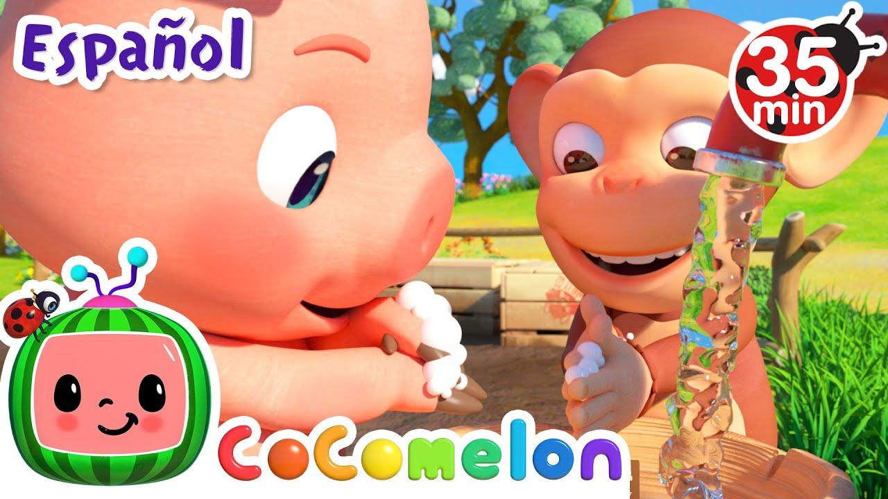 CoComelon en Español | Me lavo las manos | Compilación de Canciones Infantiles y de Cuna
