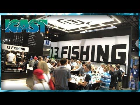 13 Fishing – ICast 2018 (Ft. FlukeMaster)