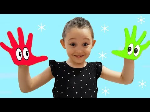 Öykü Pretend Play with colored paints  - fun pretend kid video