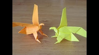 как сделать ОРЛА ПТИЦУ из бумаги Бумажный ОРИГАМИ ОРЕЛ Поделка Птица How to make Paper EAGLE ORIGAMI