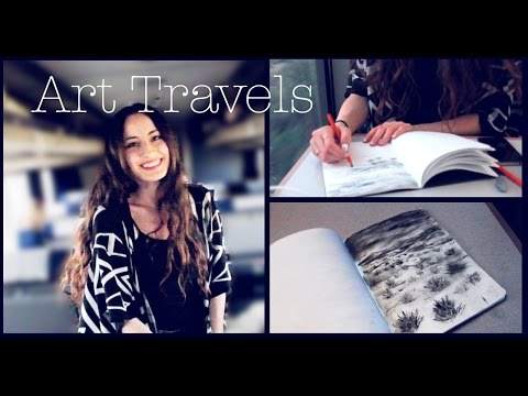 Sketchbook Travel Drawings | Train Shenanigans | Lena's Art Diary