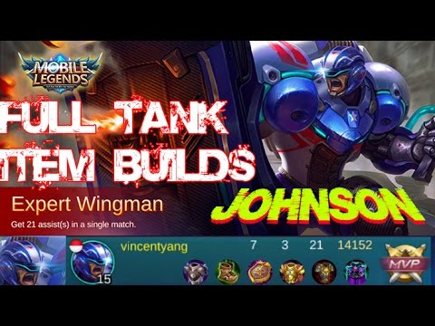 Mobile Legends - New Hero JOHNSON Full Tank Item Builds and Gameplay [MVP]