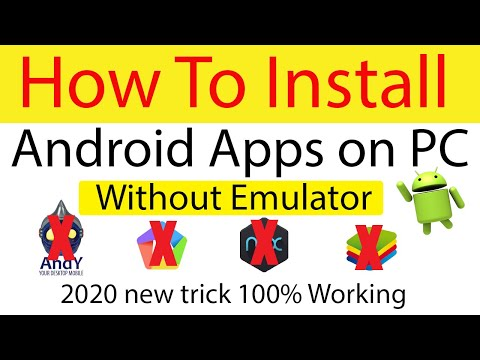 How To Install Android Apps On PC Without Any Emulators || Run Apps Without Software (Urdu/Hindi)