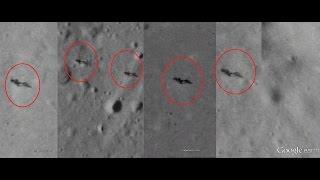 42 Alienigenas caminando sobre la luna Google Moon / Aliens walking on the Moon?
