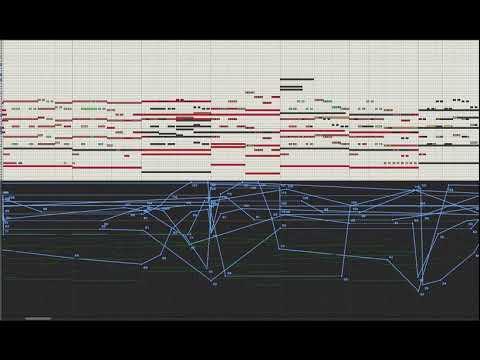 Anleitung Orchestrale Musik mit Laptop: Gesamtheit aller MIDI-Noten mit MIDI-Automationen