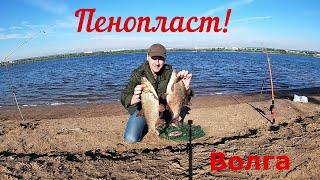 Ночная рыбалка на реке Волга Пенопласт работал лучше личинки майского жука