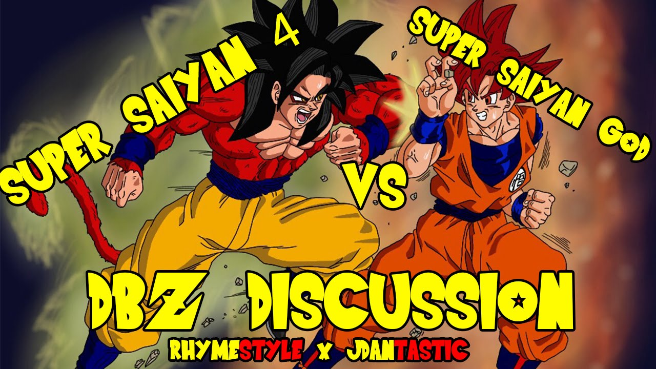 dragon ball z super saiyan 4 goku vs super saiyan god