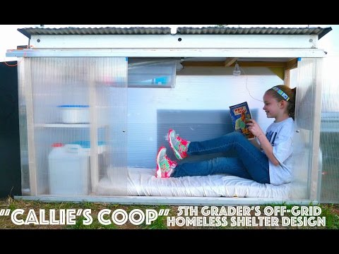5th Grader's Off-Grid 'Tiny House' Shelter for The Homeless