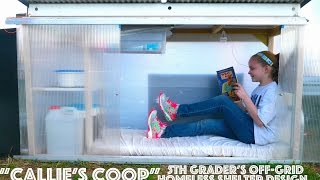 """5th Grader's Off-Grid """"Tiny House"""" Shelter for The Homeless"""