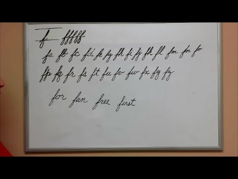 How To Connect Cursive F