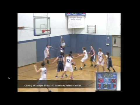 Sacopee Valley High School Player's Inbounds Pass Bounces Off Opposing Player For Bucket