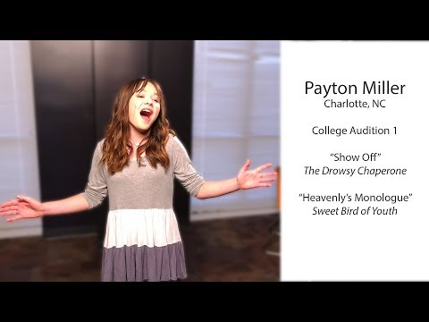 Payton Miller, Actor, College Audition, Musical Theater