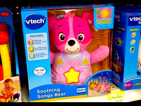 """VTECH """"Soothing Songs Bear"""" Singing Light Up Interactive Bear PRODUCT DEMO"""