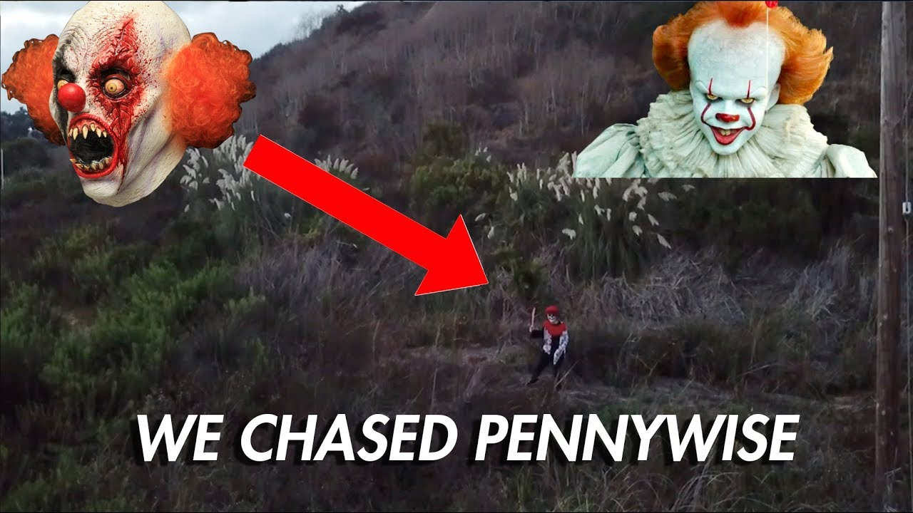 Scary Clown Pursuit From Drone Pennywise Youtube