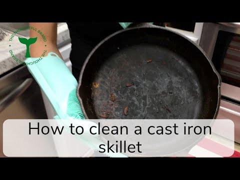 How To Clean A Cast Iron Skillet With Burnt On