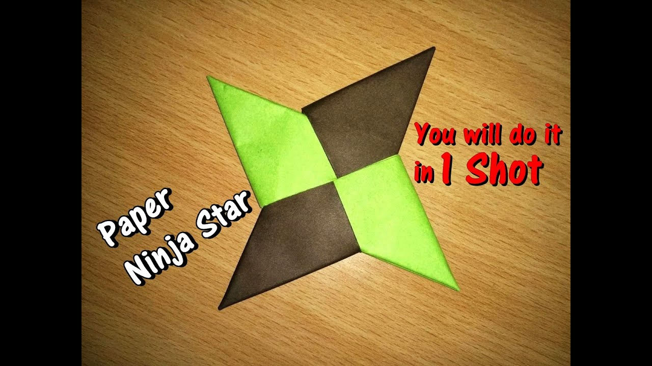 How To Make A Paper Ninja Star Shuriken