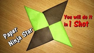 How To Make a Paper Ninja Star (Shuriken) - Origami - Simple Steps || Art for Children